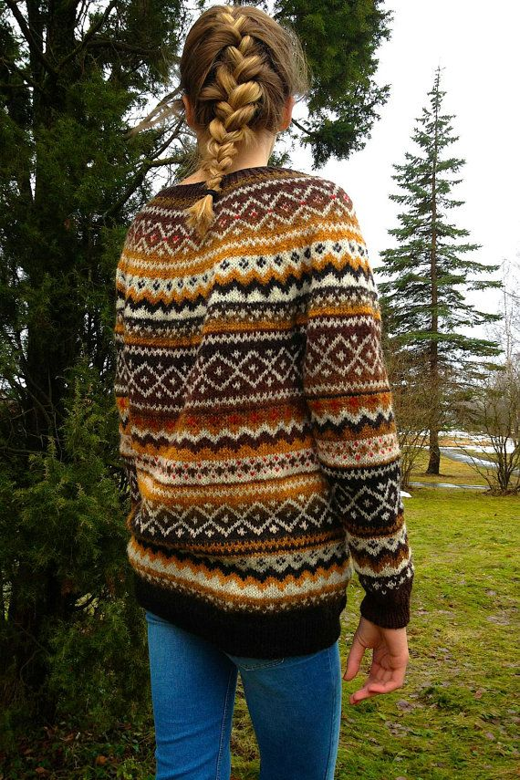 Fair Isle sweater Women's sweater Natural wool sweater Made to ...
