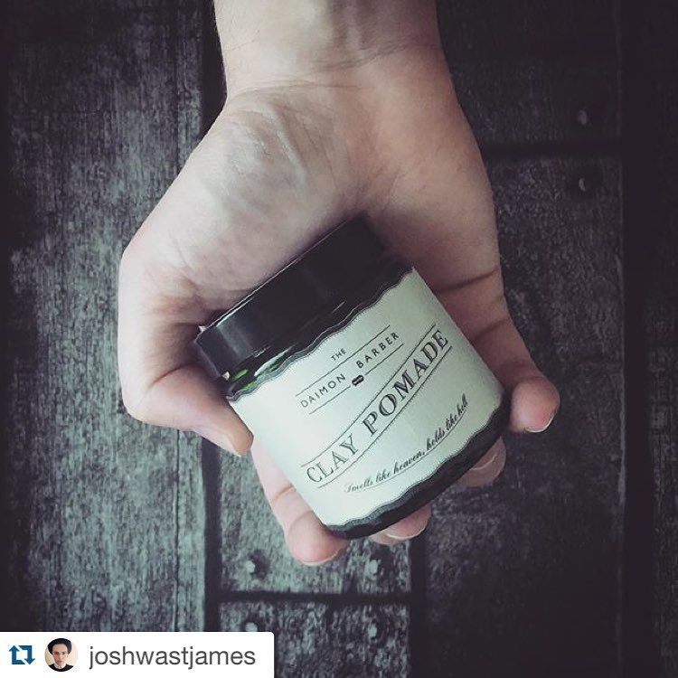 Read what @joshwastjames thinks of our No.4 pomade here -www.joshwasaintjames.com/the-daimon-barber-clay-pomade-no-4/  #Pomade #mensgrooming #grooming #bbloggers