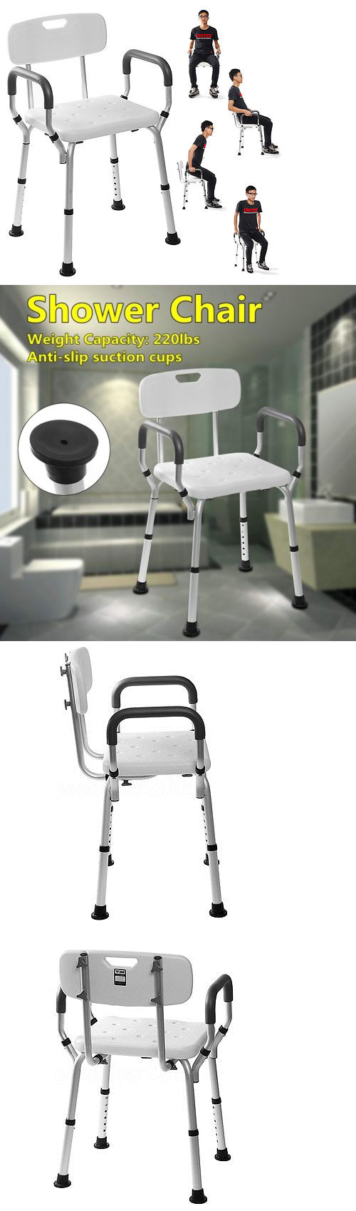 Shower and Bath Seats: Adjustable Medical Bathtub Bath Shower Chair ...