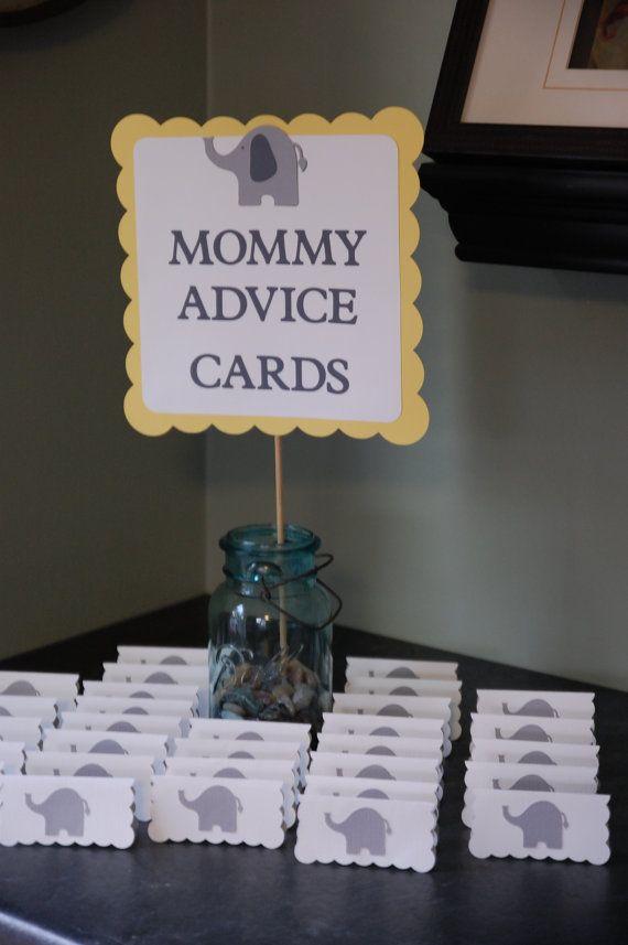 the mommy advice cards buffet sign 24 elephant advice cards