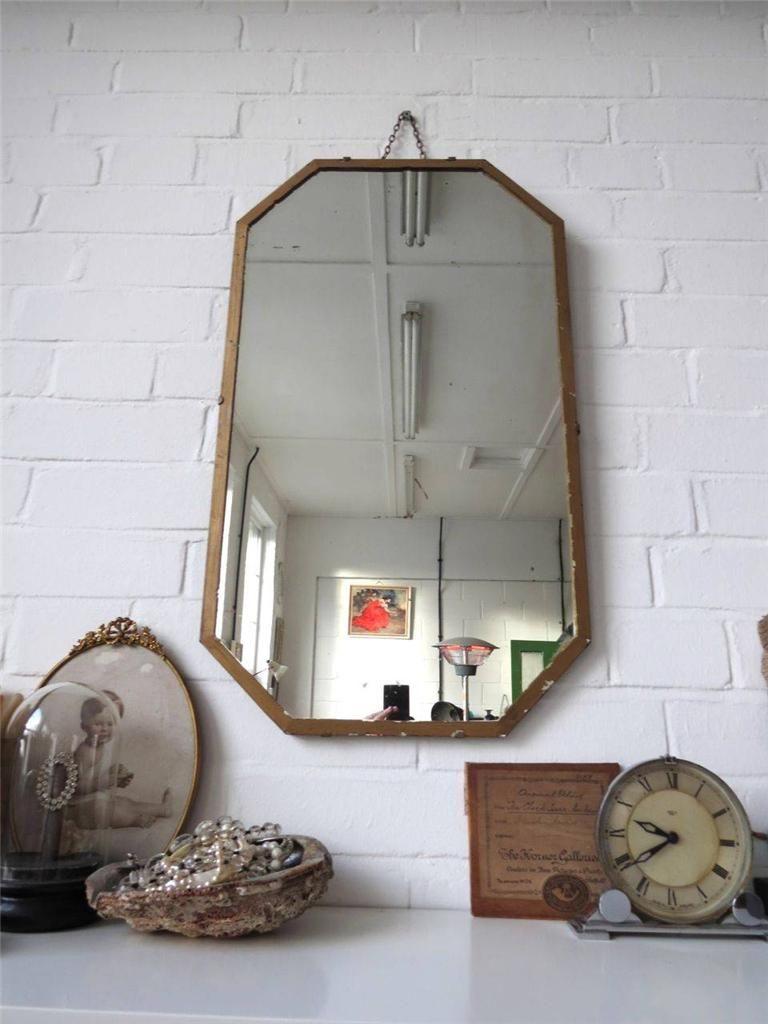 Vintage art deco wall mirror
