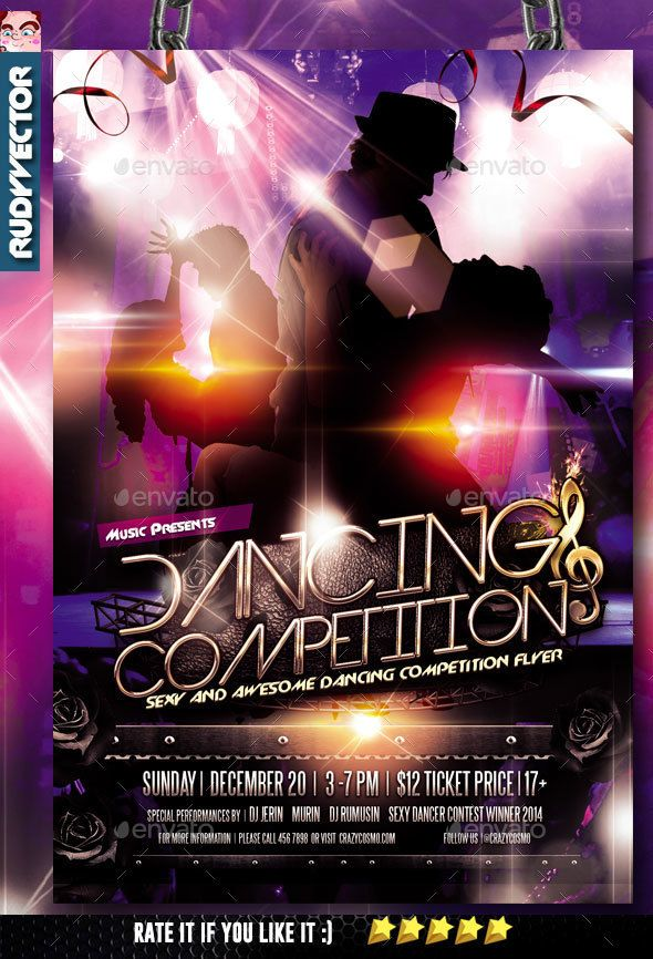 Dance Competition Flyer Dancing Fonts And Font Logo