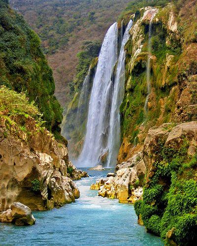 Cascada De Tamul La Huasteca Potosina Waterfall Beautiful Waterfalls Places To Travel
