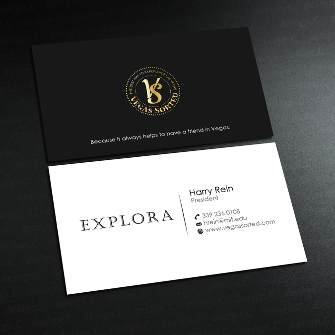 explora luxury travel business card las vegas and boston by design_c - Business Cards Las Vegas