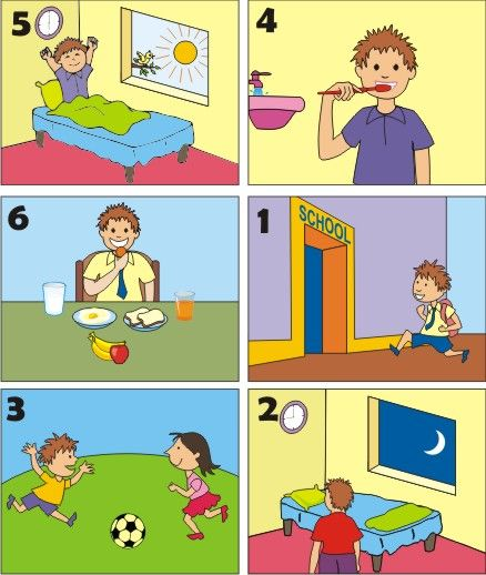 rutina diaria clp pinterest telling time and learning