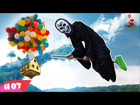 Witch do balloons with hydrogen H2      Family Finger with Real Baby    ...