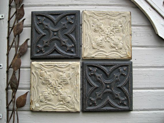 Excellent 1 X 1 Acoustic Ceiling Tiles Big 12X12 Cork Floor Tiles Regular 16X16 Floor Tile 18 Ceramic Tile Old 24 X 24 Ceramic Tile Fresh2X4 Tin Ceiling Tiles ALL 4 12 Antique Ceiling Tin Tiles. Circa 1900. For Sale In Our ..