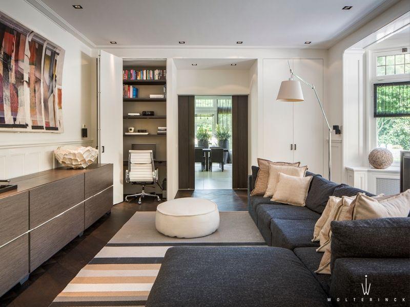 Interieurontwerp villa baarn living room woonkamer