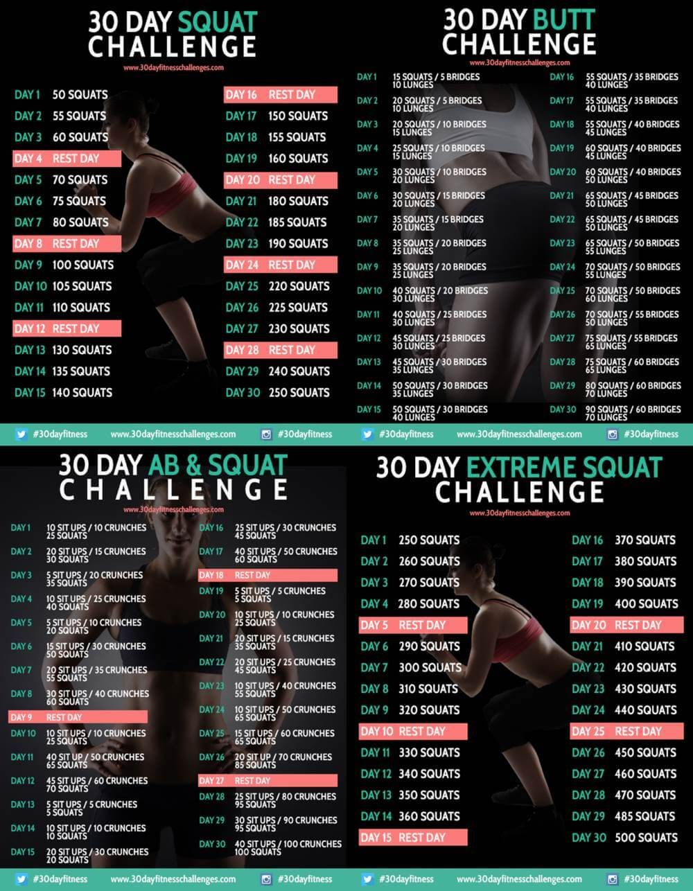 30 Day Squat Challenges | Rebel Dietitian