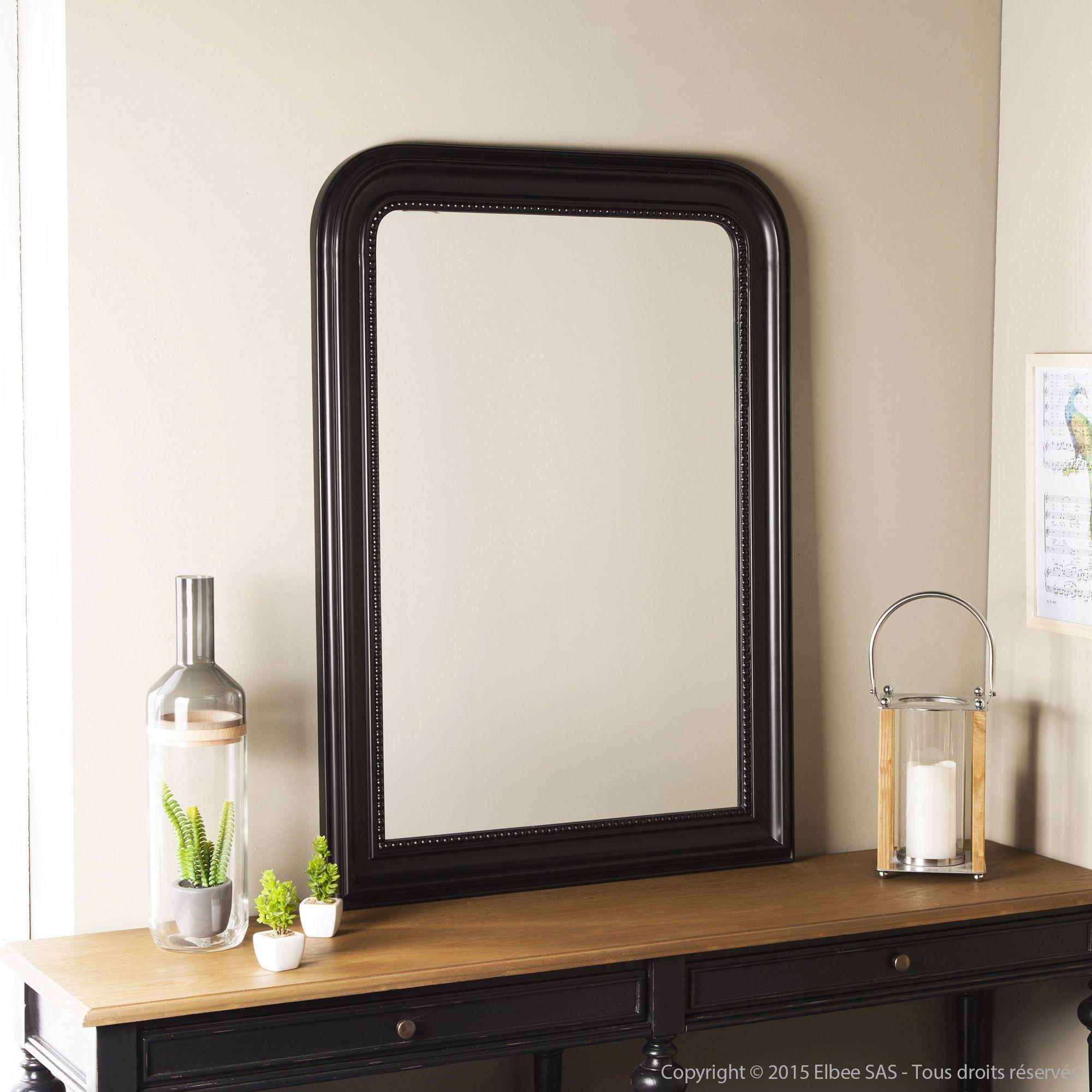 Miroir rectangulaire en bois paulownia biseaut perla mathilde et pauline dans la chambre - Miroir dans la chambre ...