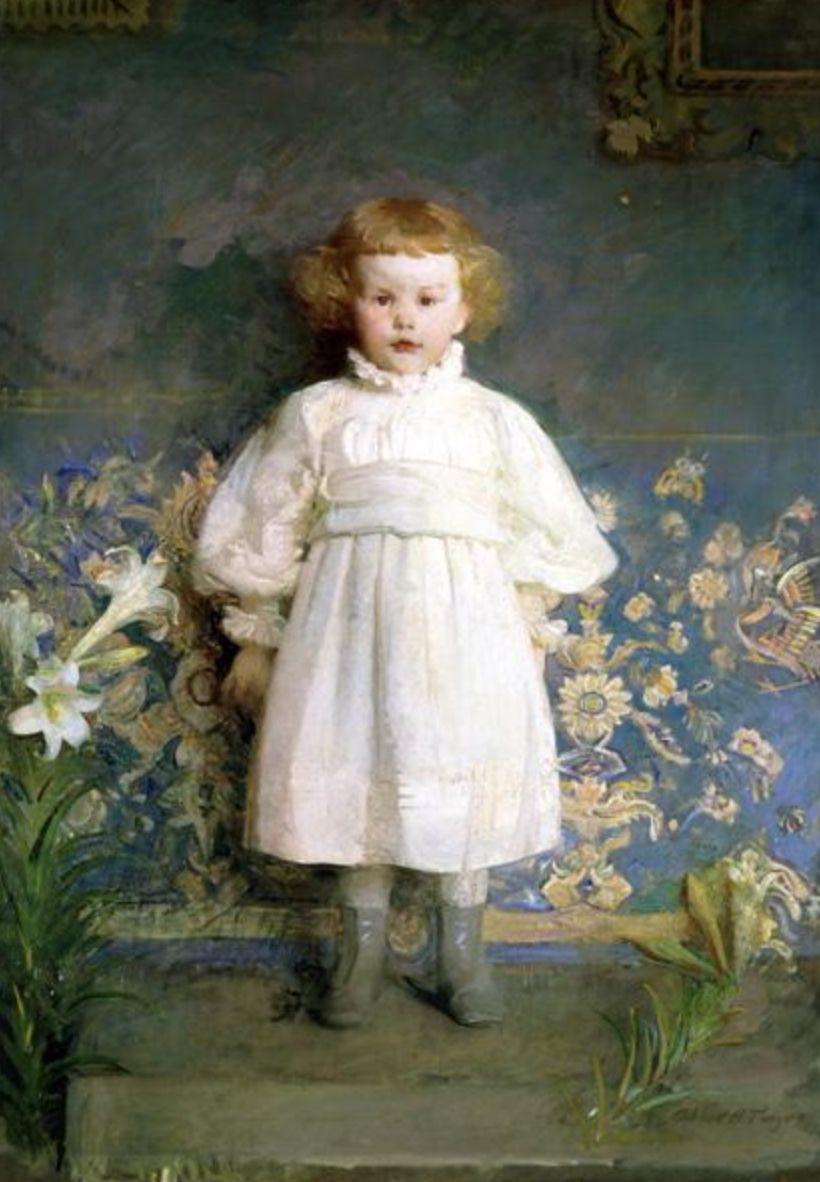 """""""Portrait Of Helen Sears"""" By Abbott Handerson Thayer. 1891 ..."""