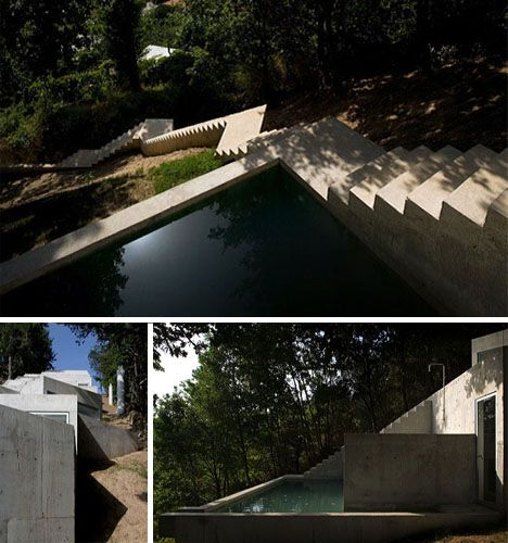 modernhomeonsteepslope House ideas Pinterest Architecture