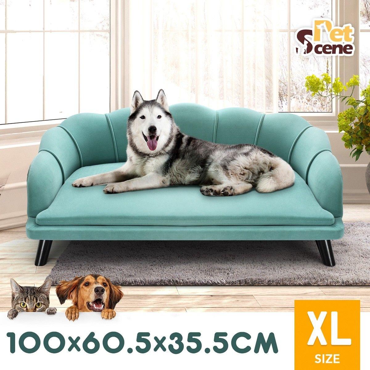 Petscene New Extra Large Raised Dog Bed Cushioned Sofa Pet Bed Dog Bed Cushion Pet Sofa Bed Plush Pet Bed