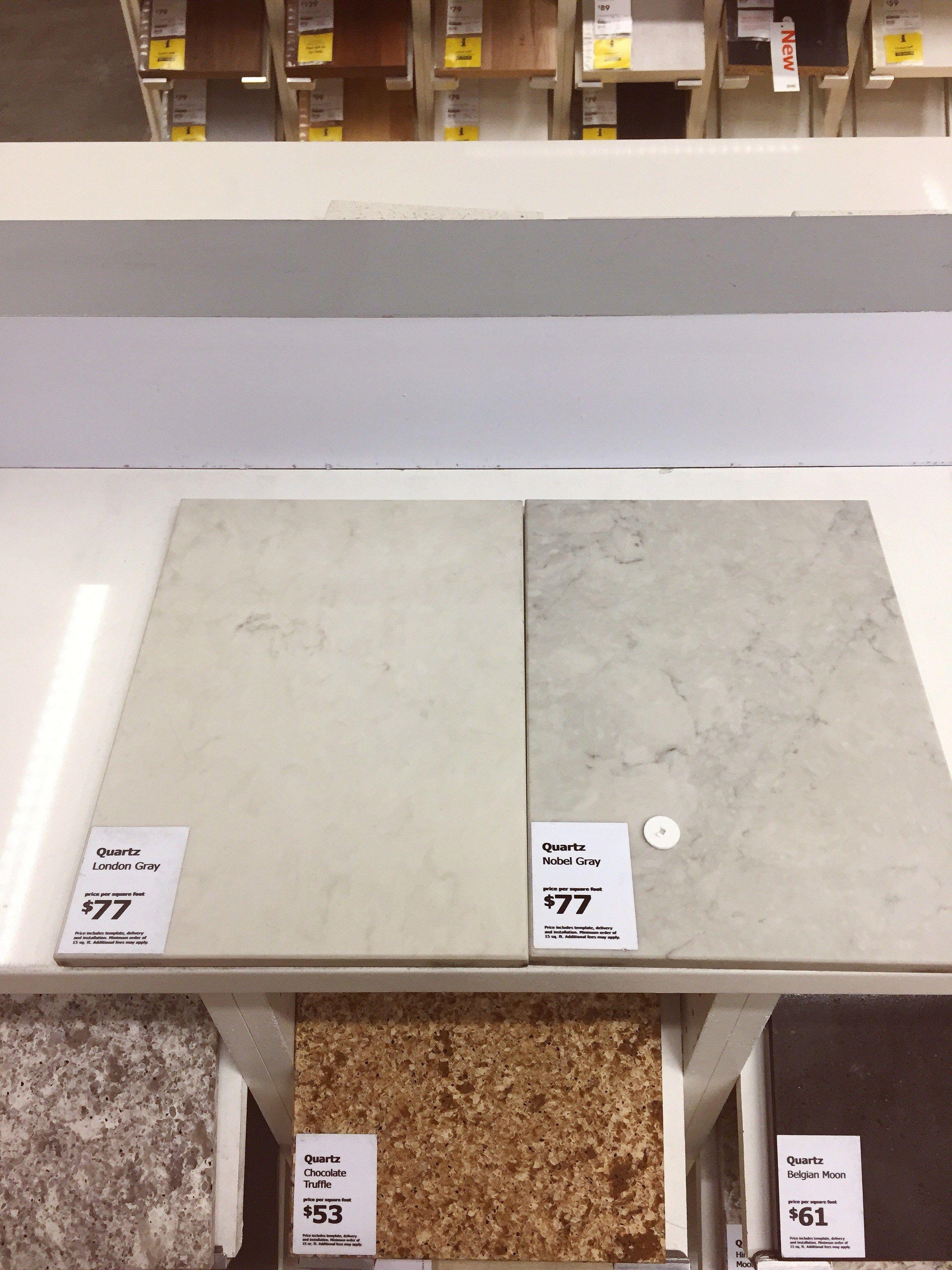 London Grey Vs Nobel Grey Caesarstone Countertops In