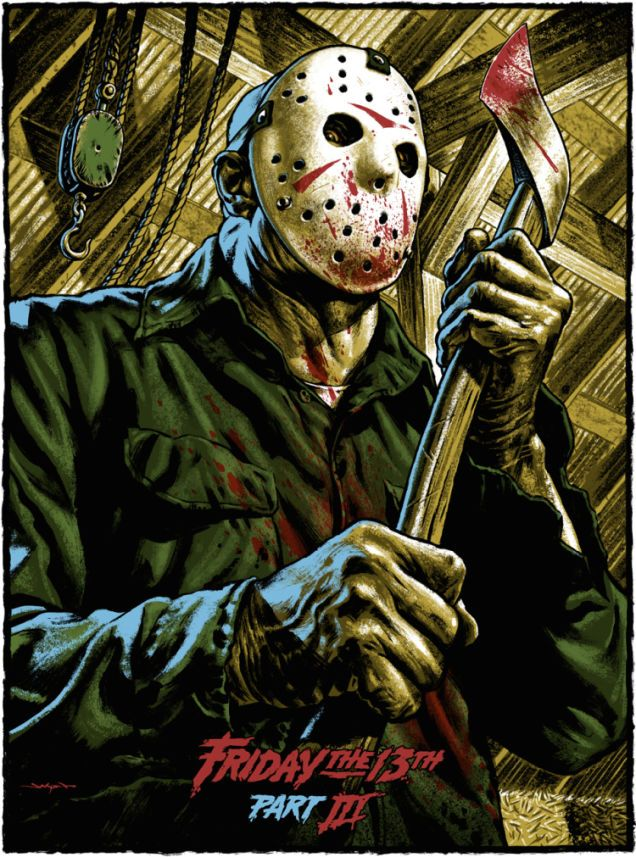 Friday the 13th Part III Poster - Jason Edmiston