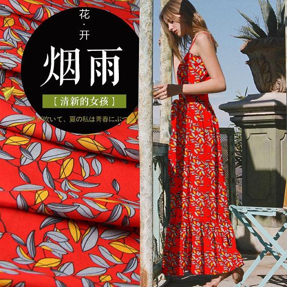 blouse floral printed fashion fabric for woman Dresses scarves shirts 100/% Pure Silk Crepe De Chine