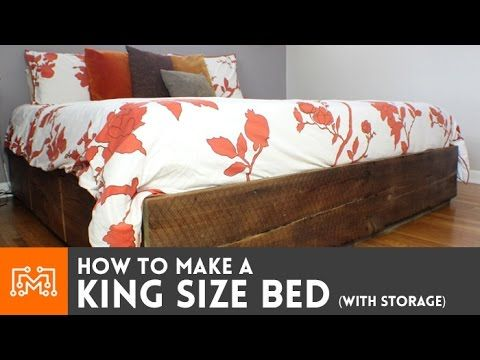 Bob at iLikeToMakeStuff.com shows you how to build a king-size bed ...