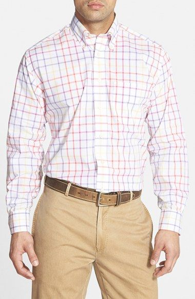 Men's Bills Khakis 'Concord' Standard Fit Check Sport Shirt
