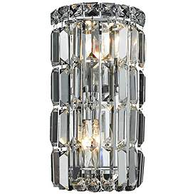 Maxime 12 High Chrome And Clear Crystal Wall Sconce 66d05 Lamps Plus Crystal Sconce Crystal Wall Sconces Elegant Lighting
