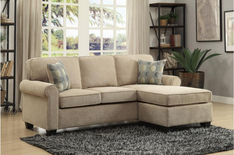 Homelegance He 9967 3sc 2 Pc Clumber Sand Textured Fabric