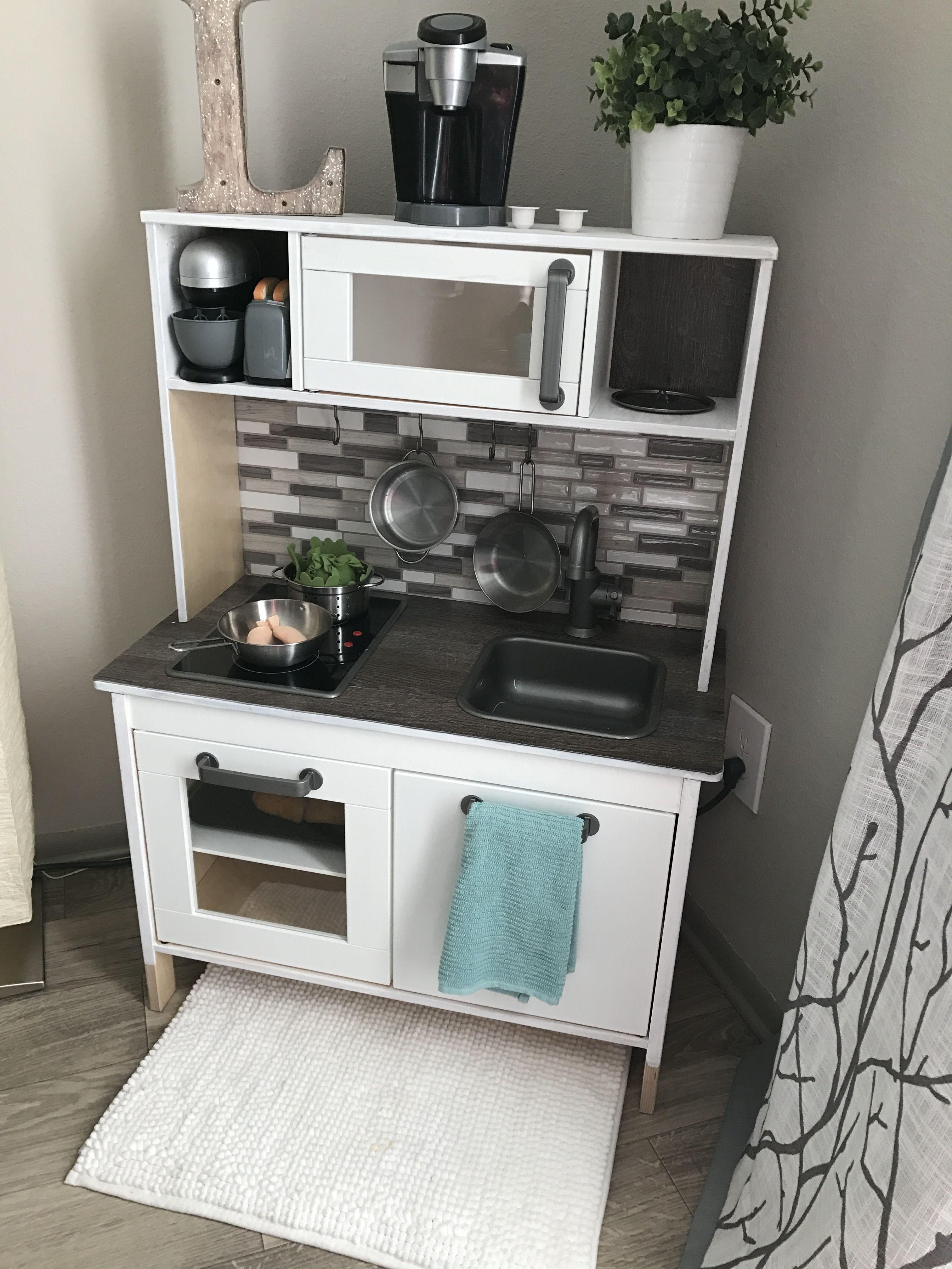 DIY renovation IKEA kids kitchen | Home | Cucina ikea, Camerette e Ikea