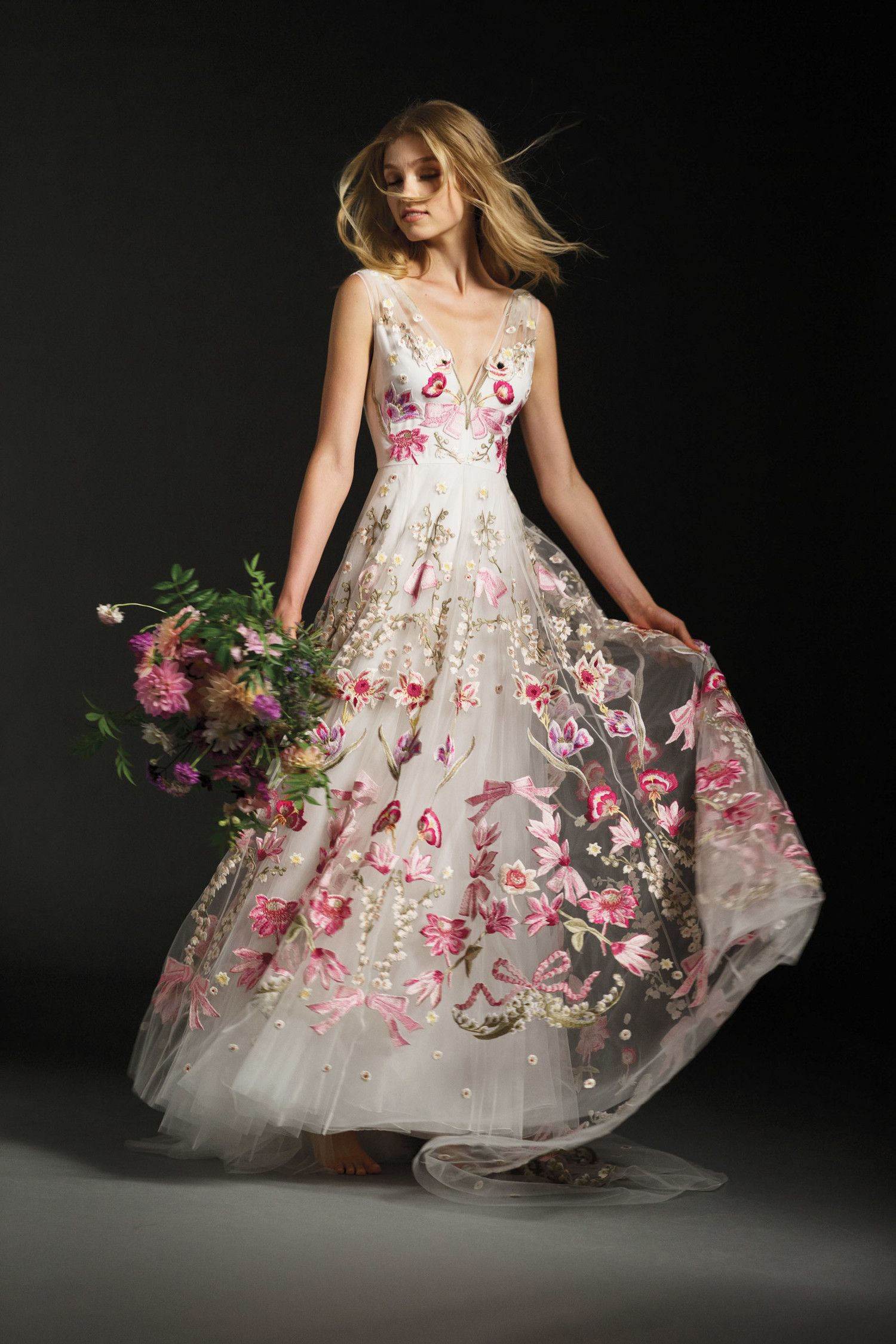 Floral print wedding dresses  Colorful Wedding Dresses That Make a Statement Down the Aisle