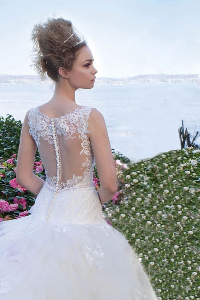 Affordable wedding dresses near me   Flamboyant Wedding Dresses Scoop A Line Straps Sleeveless With