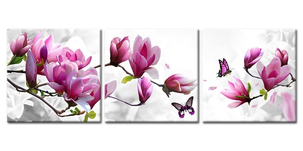 Purple Flower Floral Canvas Print Art Painting Picture Home Wall Decor