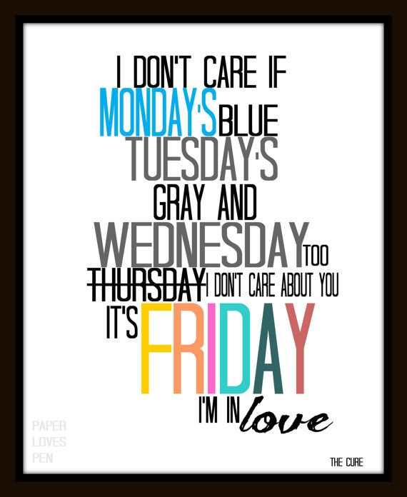 the cure friday i