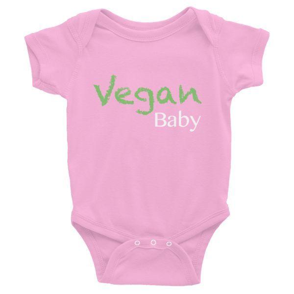 Vegan Infant Onesie - Pink
