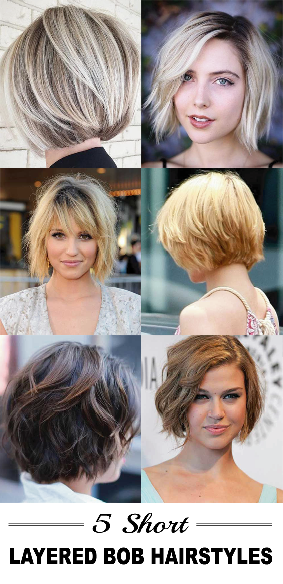 5 Short Layered Bob Hairstyles Bob Hairstyles Pinterest Hair