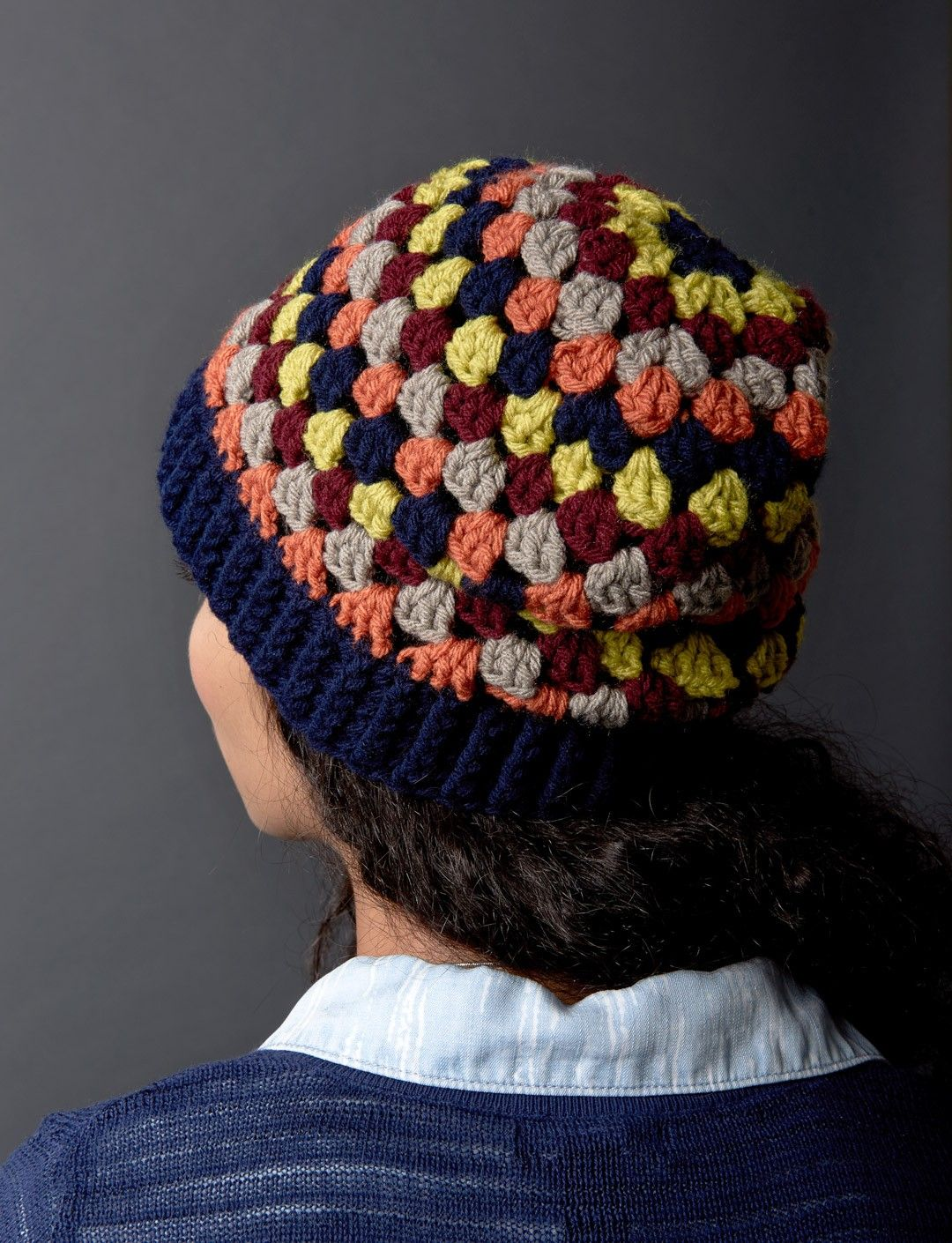 Granny Stripes Hat free pattern ~k8~