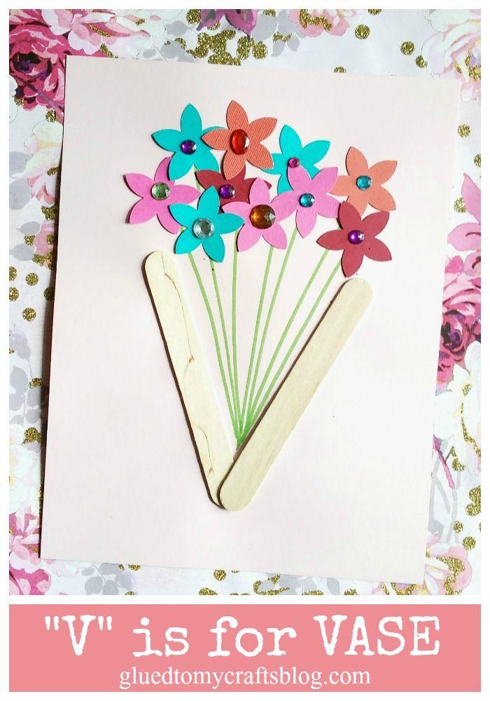 Footprint Flower Bouquet Card Kid Craft Nino2 Pinterest