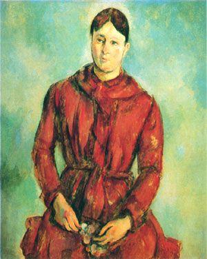 Madame Cézanne em vermelho - Paul Cézanne - 1890-1894 - MASP, São Paulo