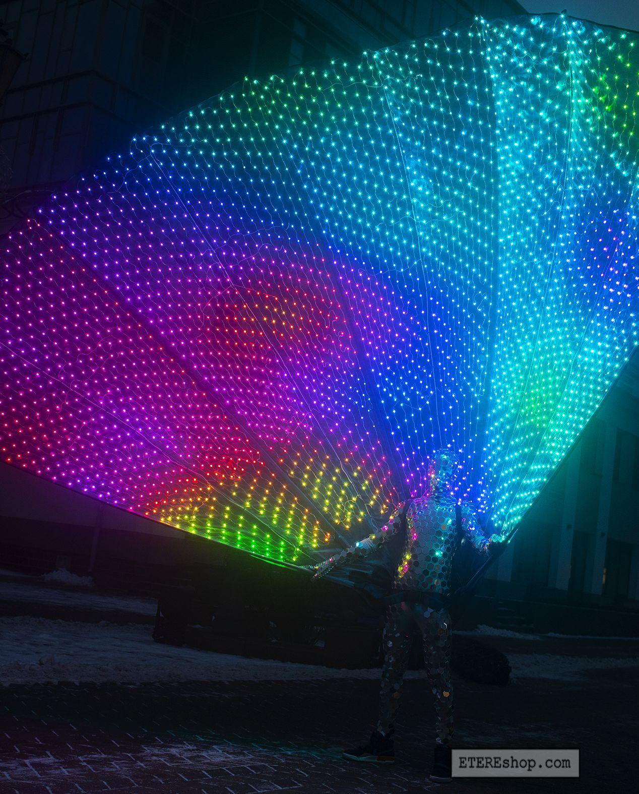 Smart Pixel Peacock Fantail with 12 LEDs 12.12 Meters High   by ...