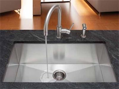 zero radius single basin sink