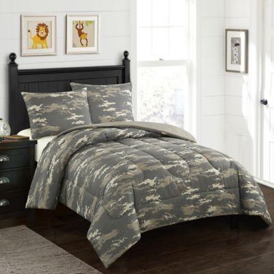 American Kids Colton Camo 2 Piece Twin Comforter Set In Green Comforter Sets Kids Comforter Sets Comforters