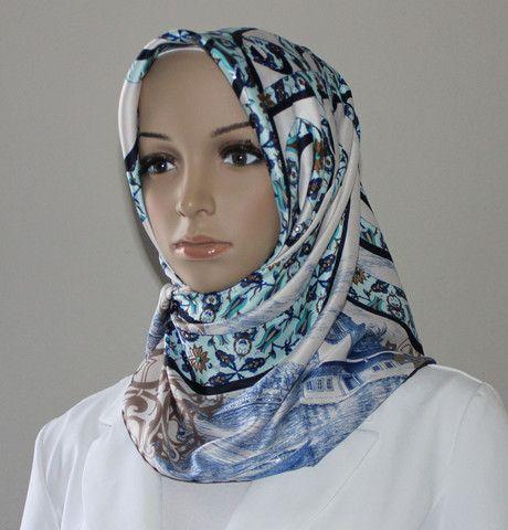 Turkish Style Square Yazma Scarves Hijabs kerchief FREE Shipping