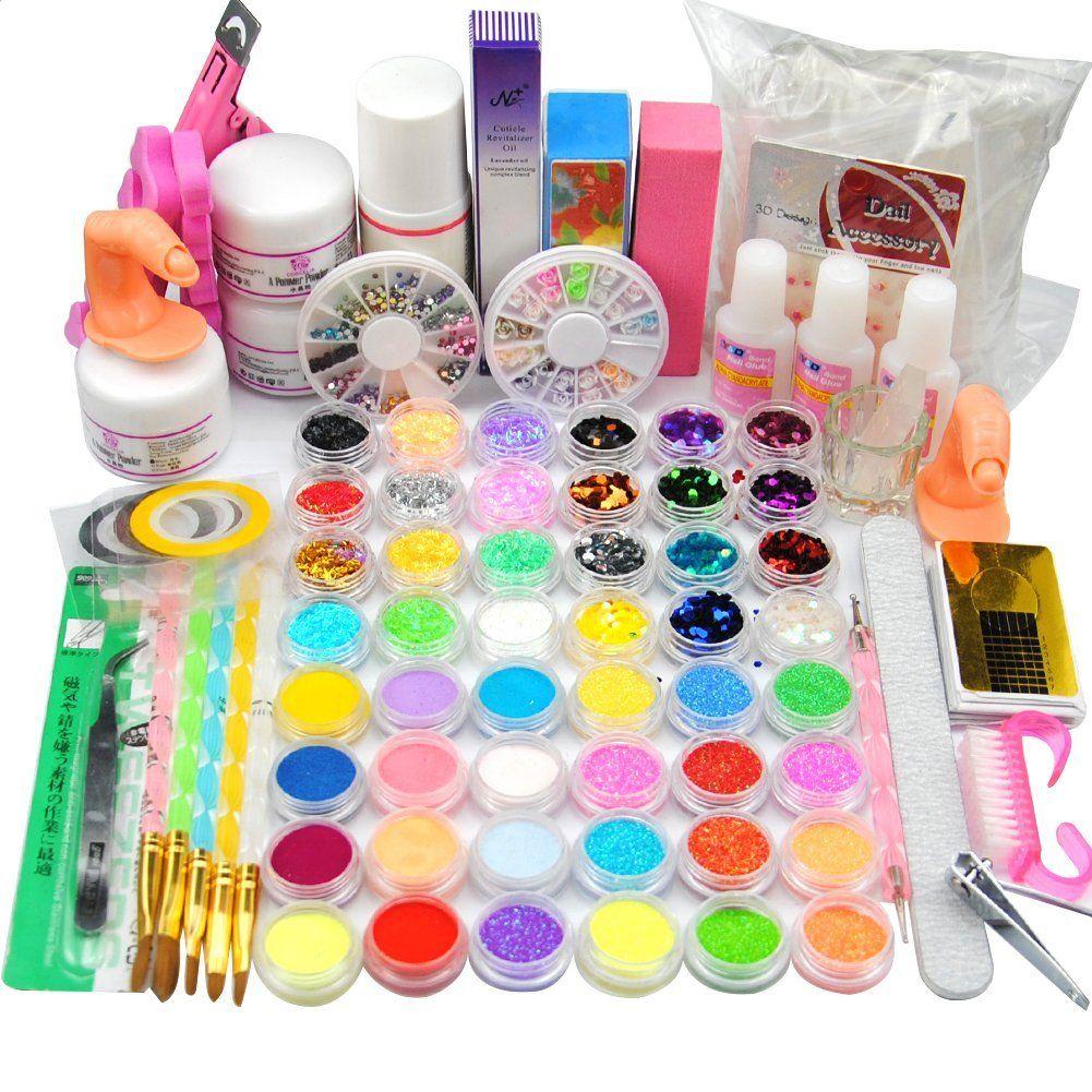 Coscelia Acrylic Nail Art 24 Colores Acrylic Powders Liquid