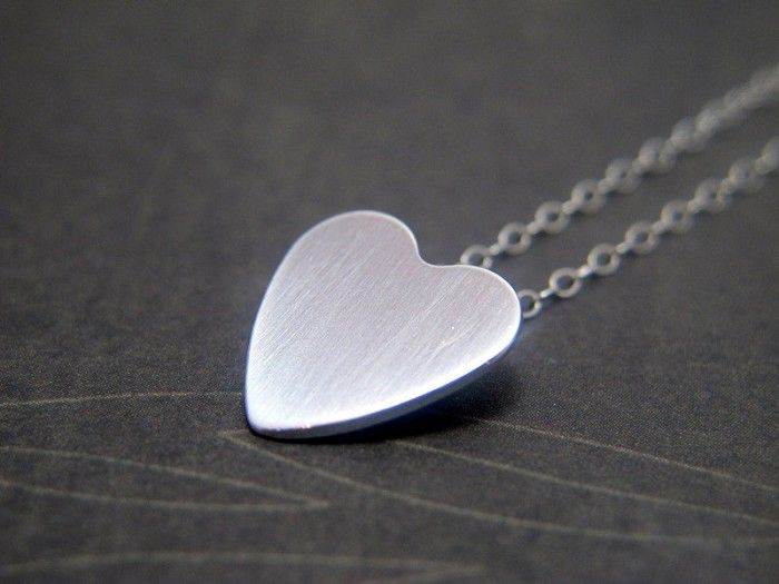 Necklace, Floating Heart Necklace, Sterling Silver Heart & Chain, Minimalist - by RiverGumJewellery on madeit