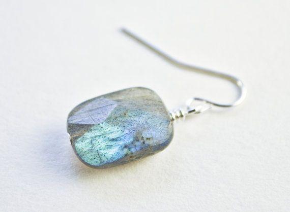Christmas Gift Idea  Labradorite Drop Earrings by RobinsonGems, $9.75