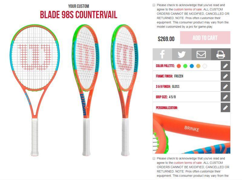 Ta Dah Check Out Brinke S Crazy Creation In Wilson S New Online Tennis Racquet Shop Tennis Racquet Racquets Tennis