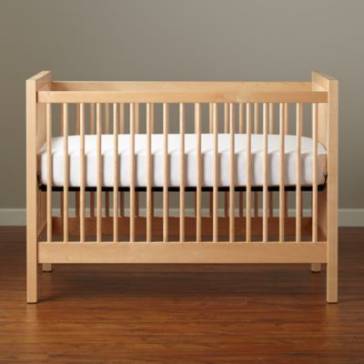 Natural wood crib. Land of nod.