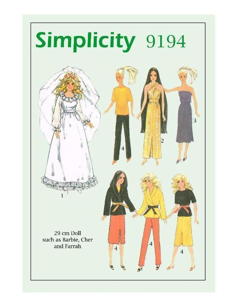 VINTAGE SEWING PATTERN 11.5\' Barbie Doll | Barbie patterns ...