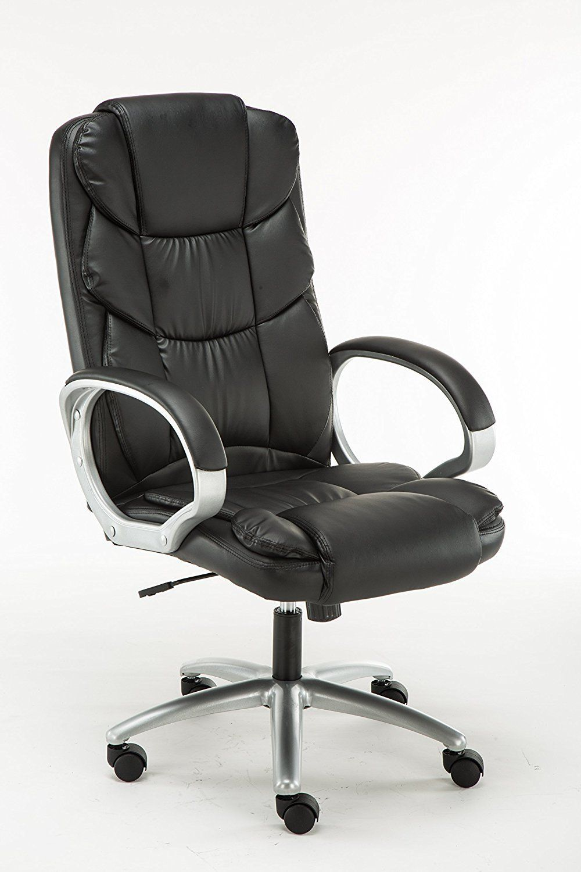 Adjustable Tilt High Back Swivel Leather Executive Chair