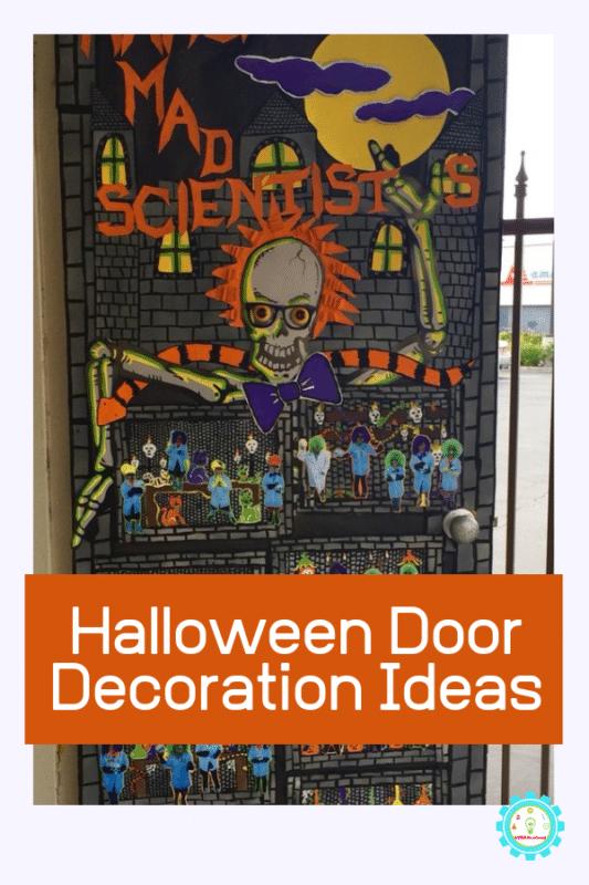 Entzückende Halloween-Klassenzimmertüren mit einem wissenschaftlichen Touch #halloweenclassroomdoor t inspiriert mit diesen wissenschaftlichen Türdekorationsideen für Halloween mit ... - #einem #entzuckende #halloween #halloweenclassroomdoor #klassenzimmerturen #touch #wissenschaftlichen - #new #halloweenclassroomdoor