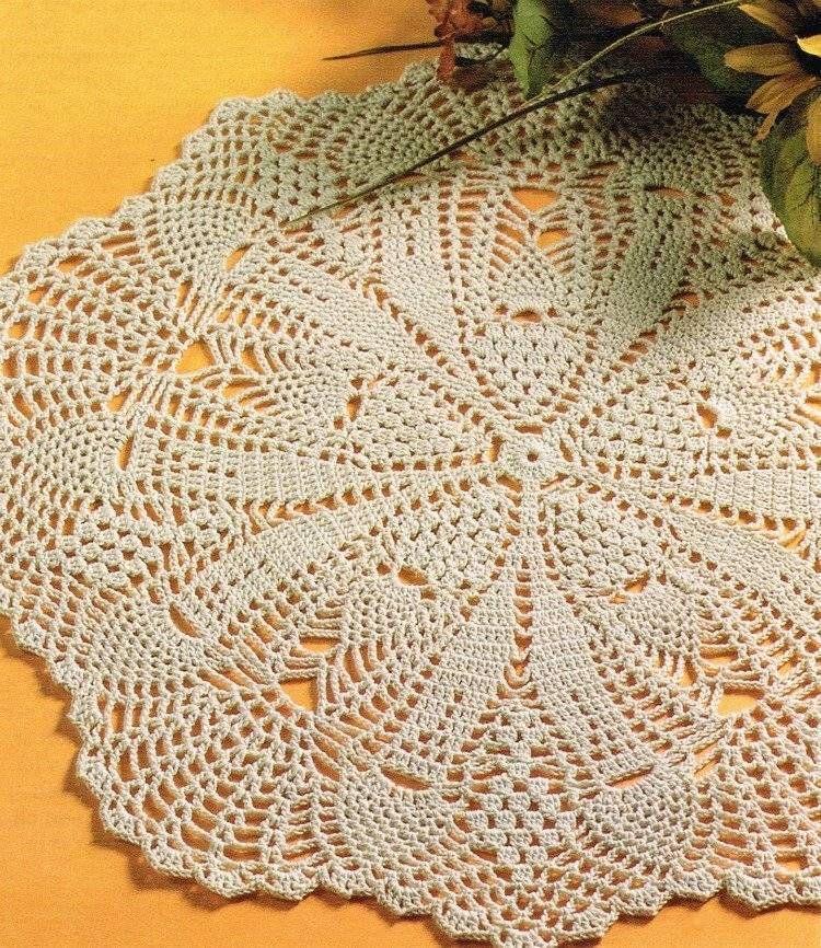 Pineapple Doily Crochet Pattern Instructions #AnniesAttic | chales ...