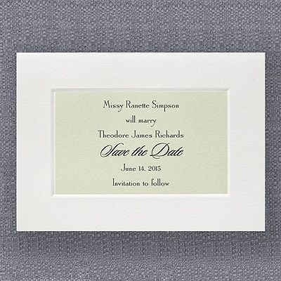 Soft Simplicity Save The Date Weddingneeds Carlsoncraft