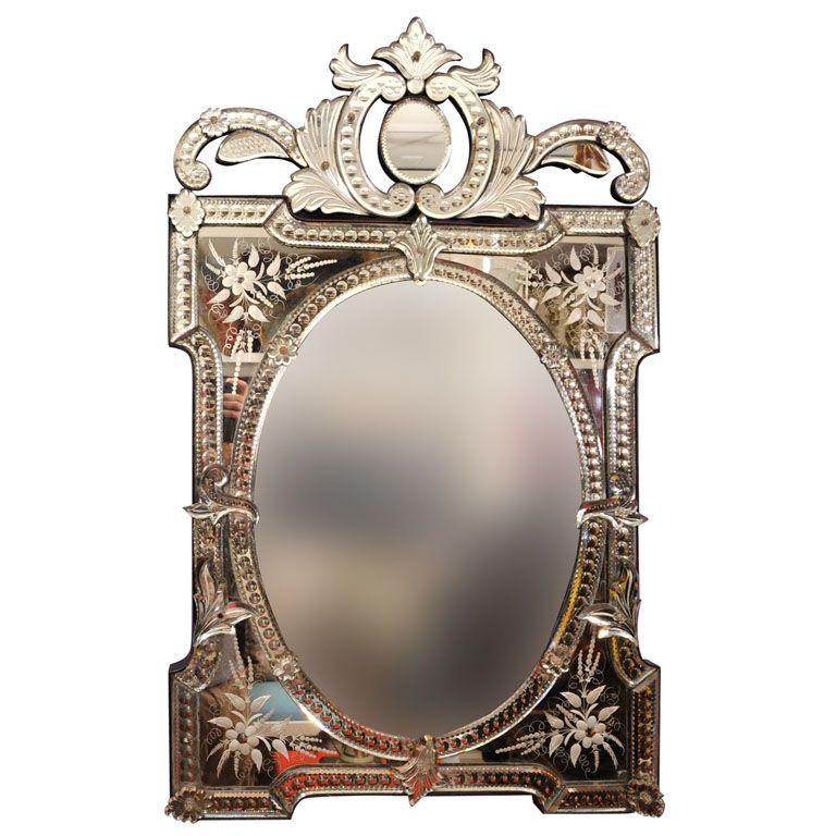 A Rectangular French Venetian Mirror 1stdibs Com Venetian Mirrors Mirror Mirror Wall