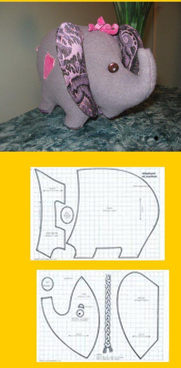 Pin de Diana Chaparro en Animales | Pinterest | Muñecos de tela ...